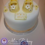 Baby Shoes Themed Cake