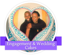 Engagement and wedding cakes