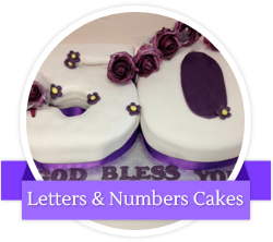 Letters and numbers cakes