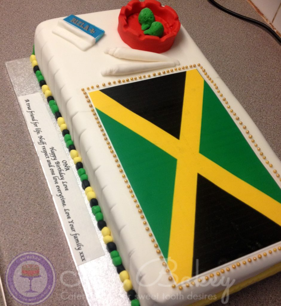 Jamaican Wedding Cake Designs The o jays flags and diva cakes on