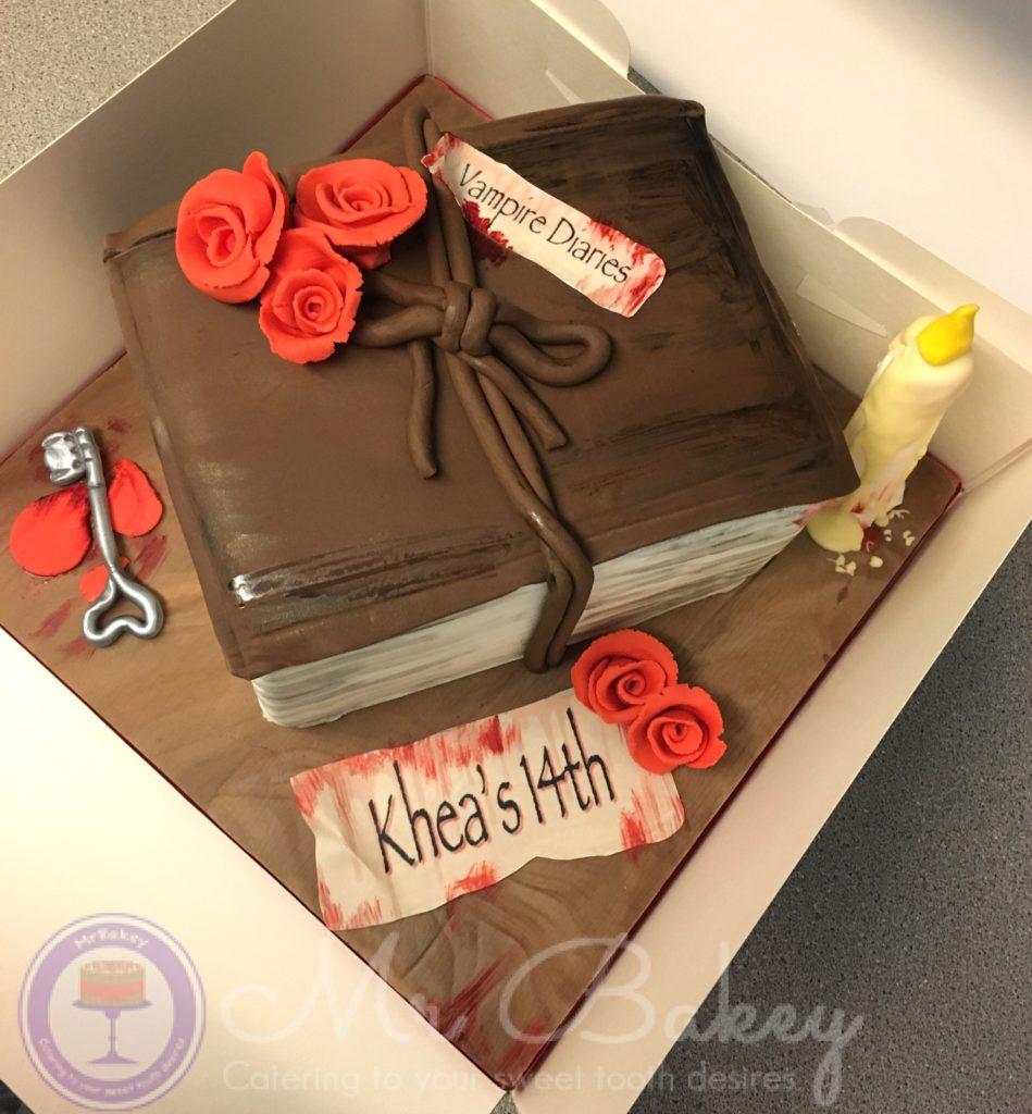 Vampire Diary Themed Cake Mr Bakey